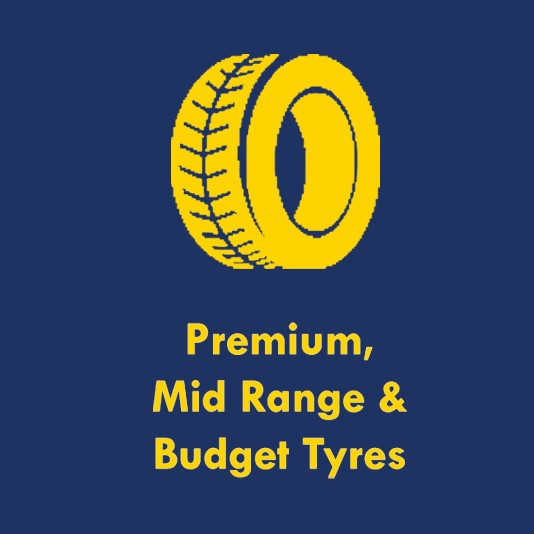 Tyres and Accessories - Premium, Mid Range and Budget